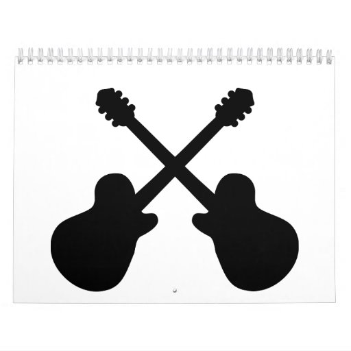 Crossed guitars calendar