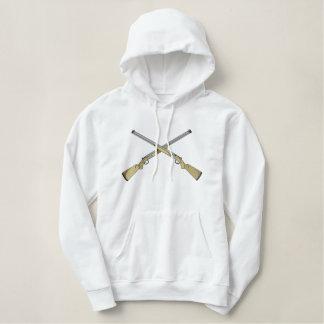 Crossed Guns Embroidered Hoodie