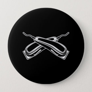 Crossed Hair Clippers Button