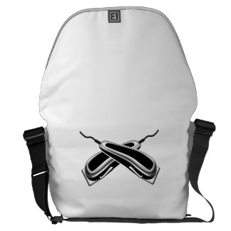 Crossed Hair Clippers Courier Bag