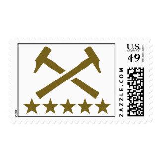 Crossed hammer stars stamps