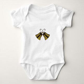 Crossed Handbells Baby Bodysuit
