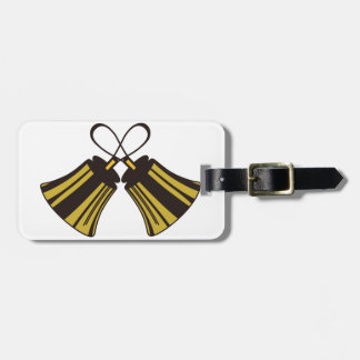 Crossed Handbells Bag Tag