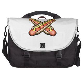 Crossed Hotdogs Laptop Bags