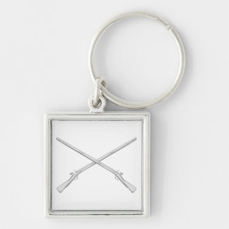 Crossed Infantry Muskets Keychain
