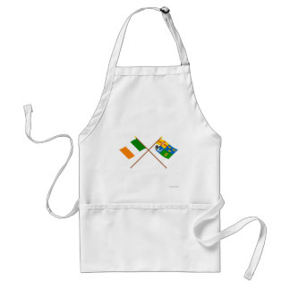 Crossed Ireland and Four-Province Flags Adult Apron
