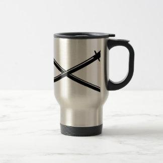 Crossed Japanese Katana Travel Mug