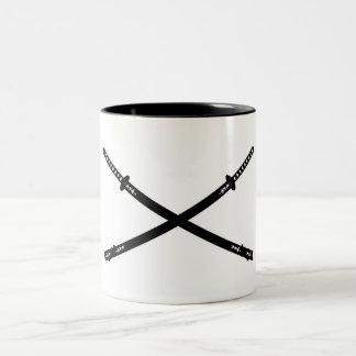 Crossed Katana Swords Mug