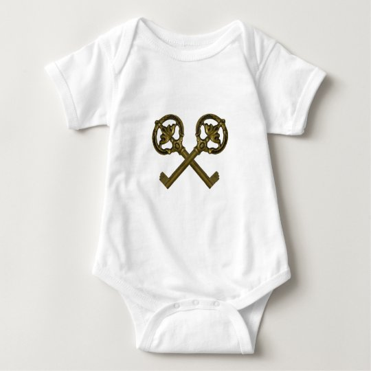 crossed keys baby bodysuit
