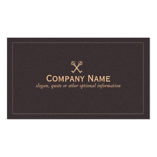 Crossed Keys Business Card