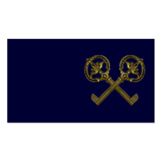 crossed keys Double-Sided standard business cards (Pack of 100)