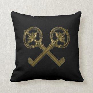 crossed keys pillows
