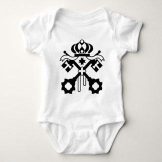 Crossed Keys symbol Baby Bodysuit
