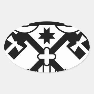 Crossed Keys symbol Oval Sticker