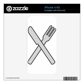 Crossed Knife and Fork iPhone 4 Decal