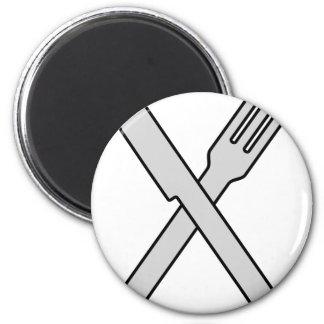 Crossed Knife and Fork Magnet