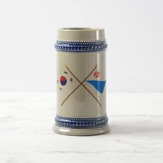 Crossed Korea and Jeju-do Flags Coffee Mug