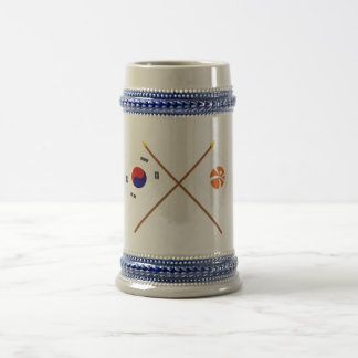 Crossed Korea and Kwangju Flags Coffee Mug