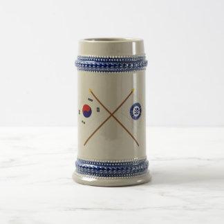 Crossed Korea and Pusan Flags Coffee Mugs