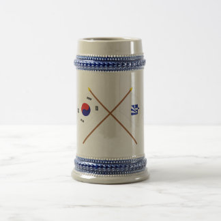 Crossed Korea and Pusan Flags (variant) Coffee Mugs