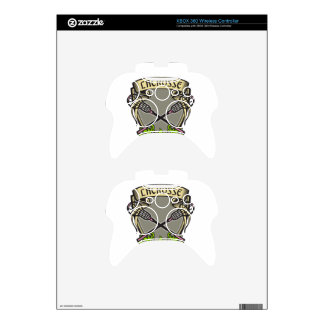 Crossed Lacrosse Stick Coat of Arms Crest Woodcut Xbox 360 Controller Skins