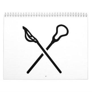 Crossed lacrosse sticks calendar