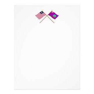 Crossed Liberia and Bomi County Flags Letterhead