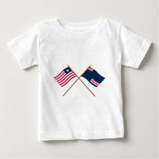 Crossed Liberia and Grand Bassa County Flags Baby T-Shirt