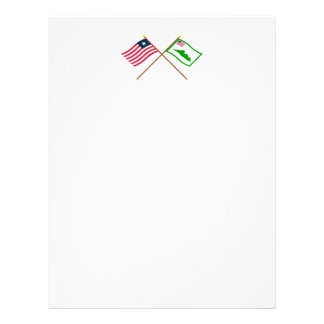 Crossed Liberia and Grand Cape Mount County Flags Letterhead