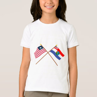 Crossed Liberia and Nimba County Flags T-Shirt