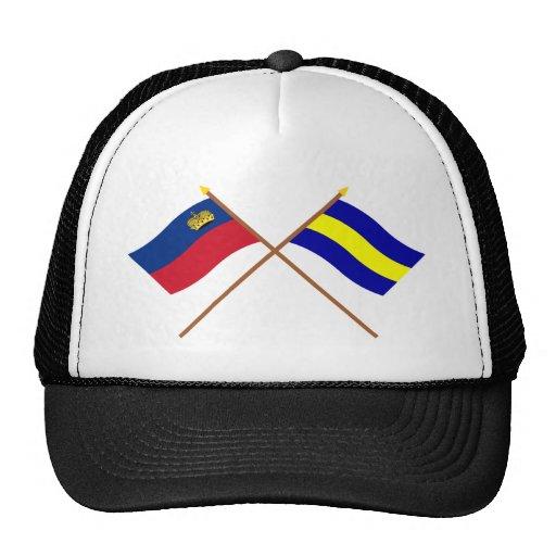 Crossed Liechtenstein and Balzers Flags Hat