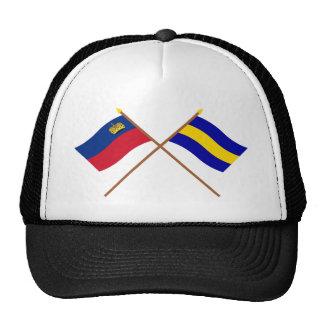 Crossed Liechtenstein and Gamprin Flags Hat