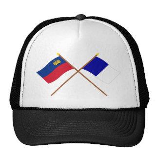 Crossed Liechtenstein and Triesen Flags Trucker Hat