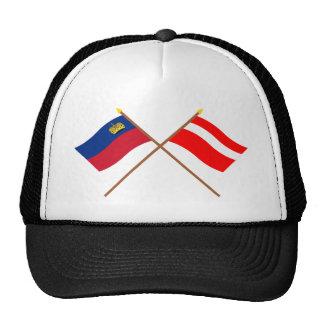 Crossed Liechtenstein and Vaduz Flags Mesh Hats