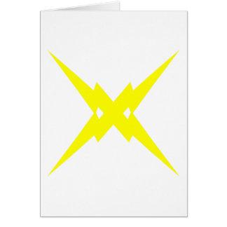 Crossed Lightning Card