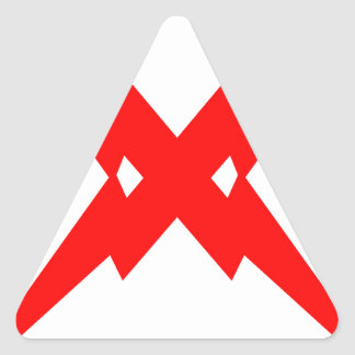 Crossed Lightning Triangle Sticker