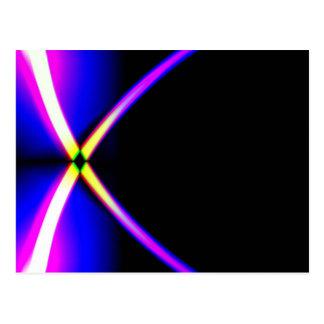 Crossed lights postcard