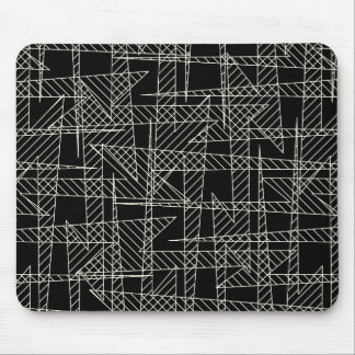 Crossed lines mouse pad