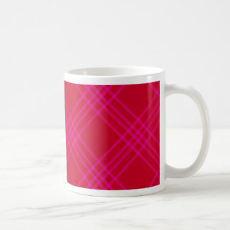 Crossed Lines On Red Mug
