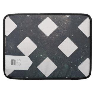 Crossed Lines, Scratchy Pattern, Rhombuses MacBook Pro Sleeves
