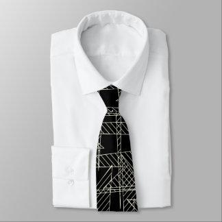 Crossed lines tie