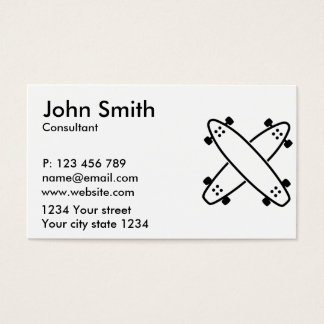 Crossed longboards business card