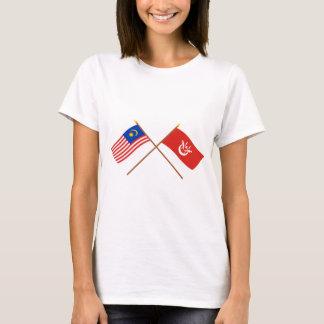 Crossed Malaysia and Kelantan flags T-Shirt