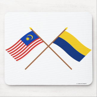 Crossed Malaysia and Perlis flags Mouse Pad