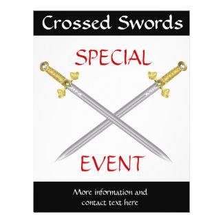Crossed Medieval Swords Flyer Template