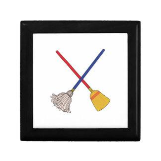 Crossed Mop & Broom Gift Box
