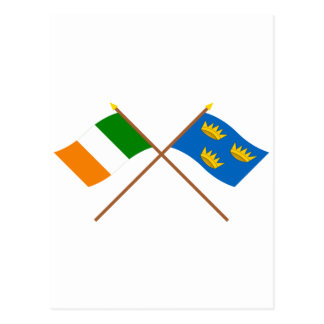 Crossed Munster Province Flags Postcard