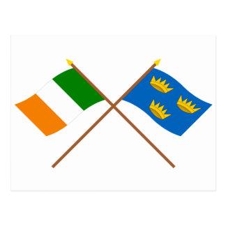 Crossed Munster Province Flags Postcard