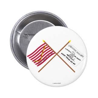 Crossed Navy Jack and Culpeper Flag Pinback Buttons
