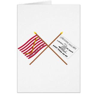 Crossed Navy Jack and Culpeper Flag Greeting Card